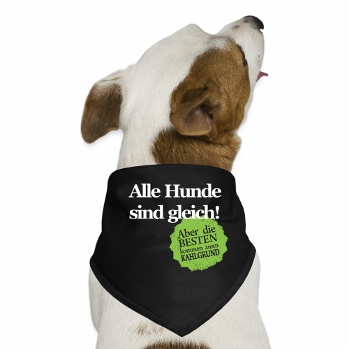 Hunde sind gleich, außer Kahlgründer - WEIß/GRÜN - Hunde-Bandana