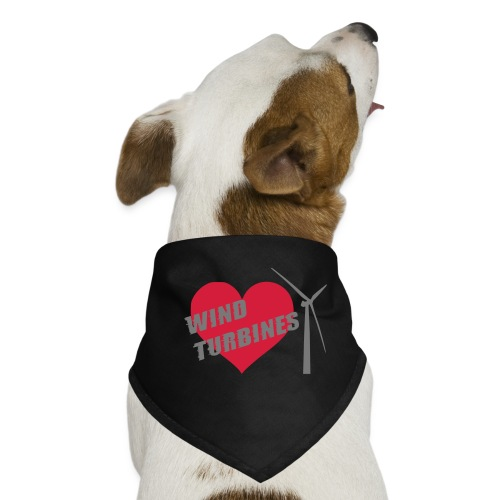 wind turbine grey - Dog Bandana