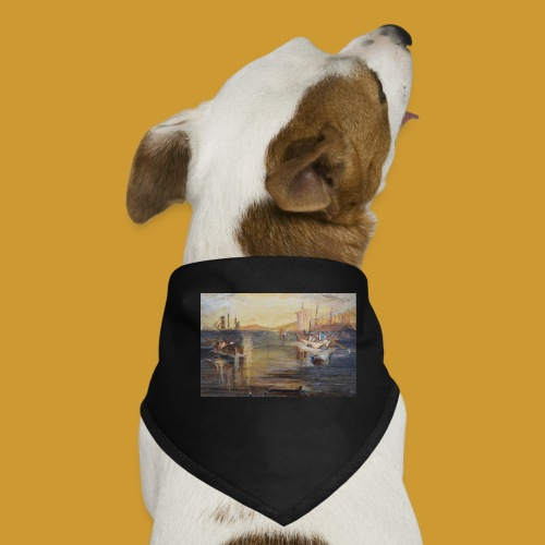 White Fishing - Mark Noble Art - Dog Bandana