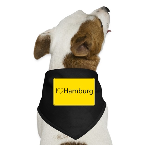 I love hamburg - Hunde-Bandana