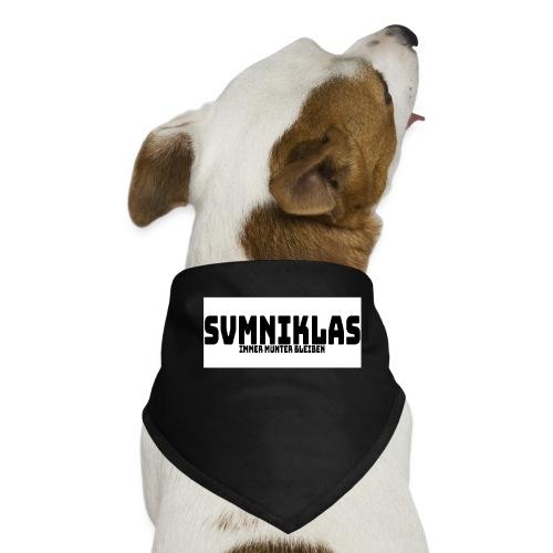 svmniklas - Leitspruch mit weißen Hintergrund - Hunde-Bandana