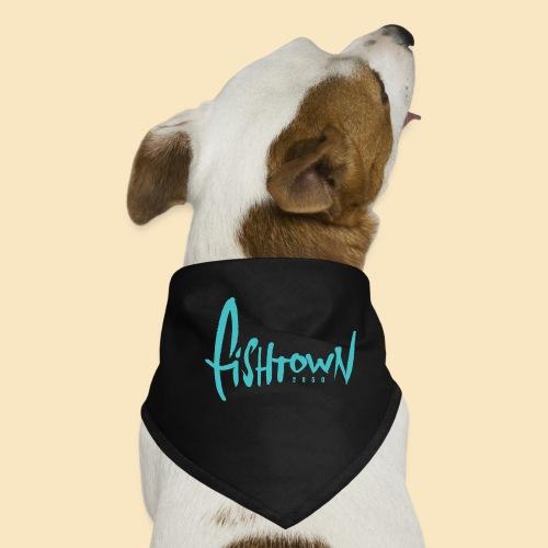 Fishtown 2850 handdrawn brightblue - Hunde-Bandana