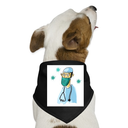 Cartoon Doktor Geschenkidee gezeichnet - Hunde-Bandana