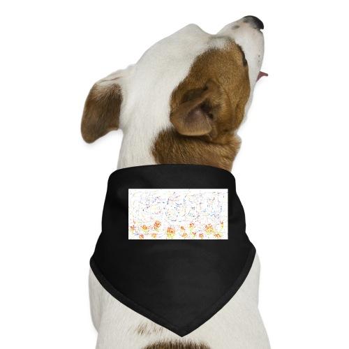 flores - Pañuelo bandana para perro