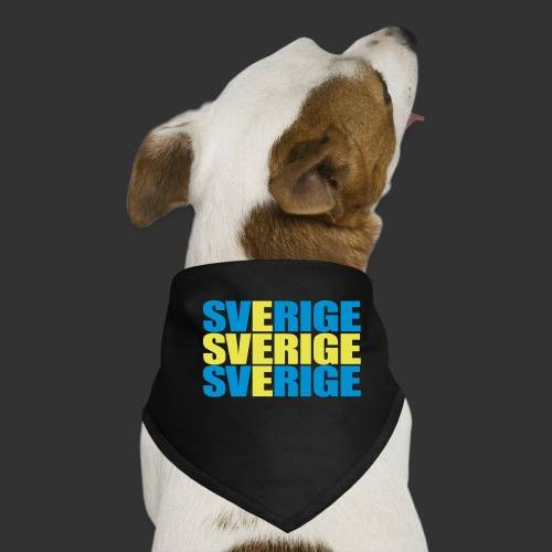 SVERIGE flaggtext - Hundsnusnäsduk