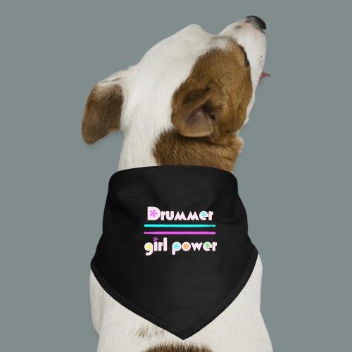 Drummer girlpower rose - idee cadeau batteur - Bandana pour chien