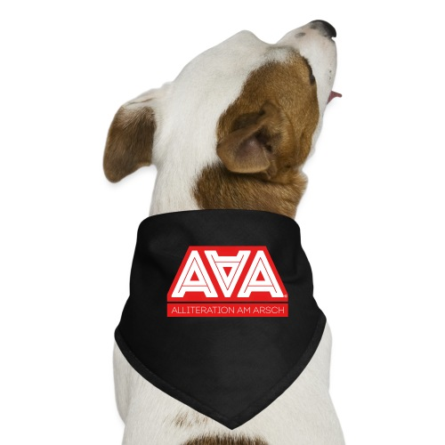 Alliteration Am Arsch - Hunde-Bandana