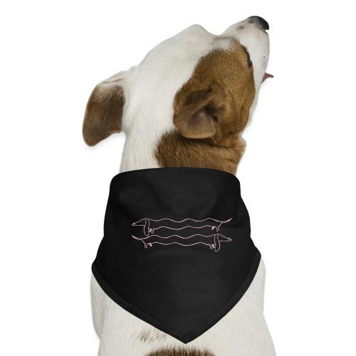 2 Dackel rosa - Hunde-Bandana