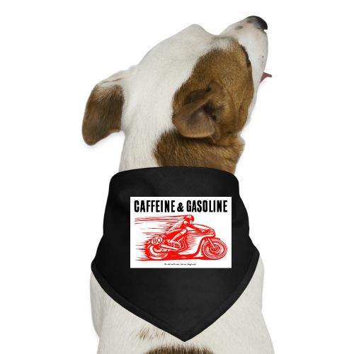 Caffeine & Gasoline black text - Dog Bandana