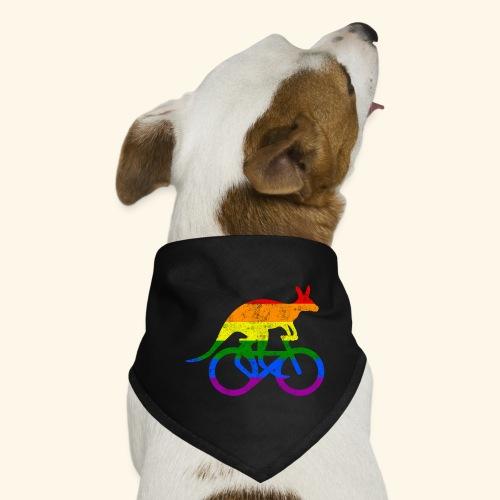 Radfahrer Känguru lustiges Fahrrad Regenbogenfahne - Hunde-Bandana