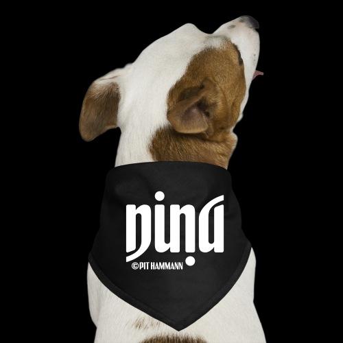 Ambigramm Nina 01 Pit Hammann - Hunde-Bandana