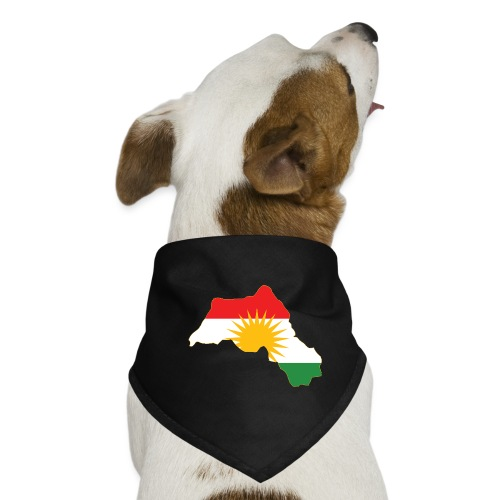 Kurdistan Flag Map - Hunde-Bandana