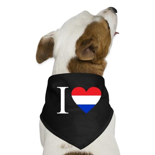 Ik hou van Nederland   Hart met rood wit blauw - Honden-bandana