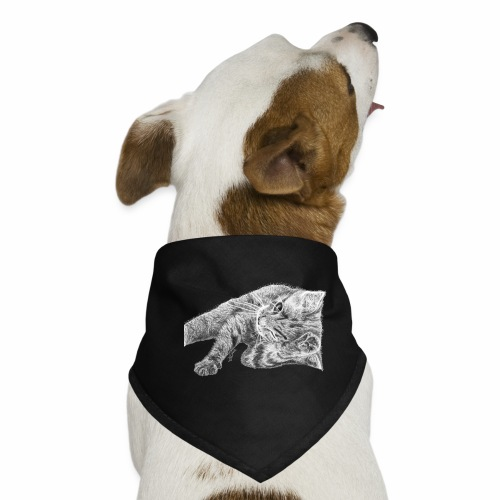 Small kitten in gray pencil - Dog Bandana