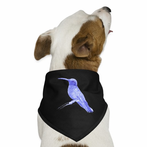 Hummingbird with ballpoint pen - Dog Bandana