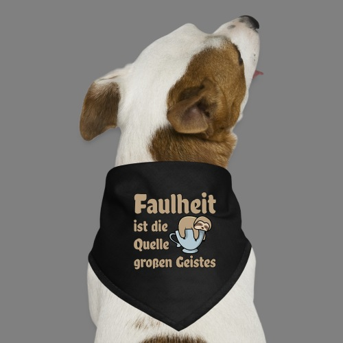 Faulheit - Hunde-Bandana