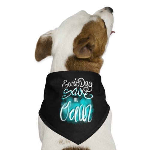 Earth Day - Save the ocean - Hunde-Bandana