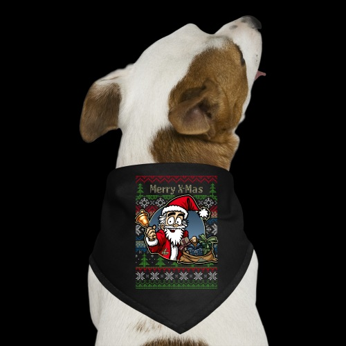 Merry X-Mas Weihnachtsmann - Hunde-Bandana