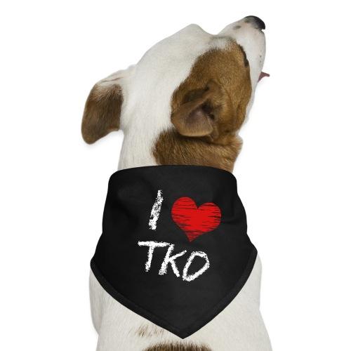 I love tkd letras blancas - Pañuelo bandana para perro