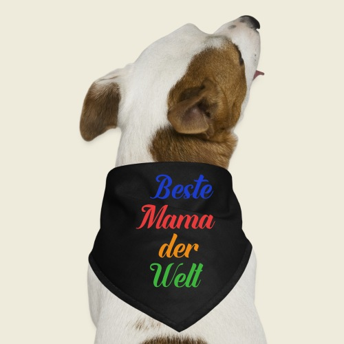 Beste Mama der Welt schön bunt - Hunde-Bandana