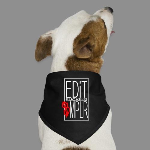 EDiT SMPLR shirt logo weiss - Hunde-Bandana