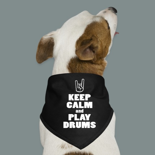 Keep calm and play drums - Bandana pour chien
