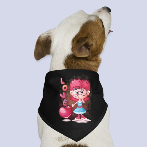 Funny and lovely girl cartoon design - Dog Bandana