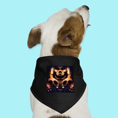 Tête de mort à la chandelle - Bandana pour chien