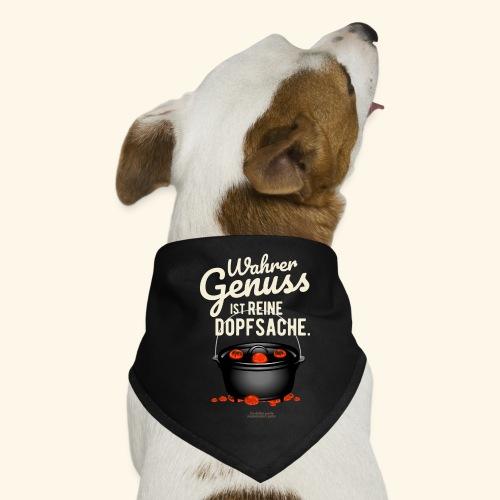 Dutch Oven T-Shirt Design Genuss ist Dopfsache - Hunde-Bandana