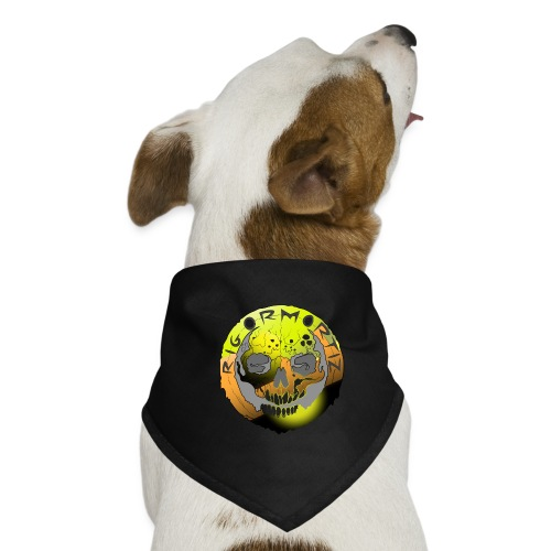 Rigormortiz Metallic Yellow Orange Design - Dog Bandana