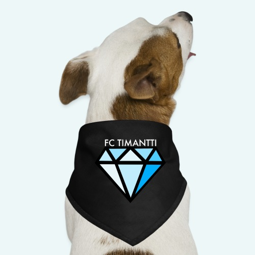 FCTimantti logo valkteksti futura - Koiran bandana