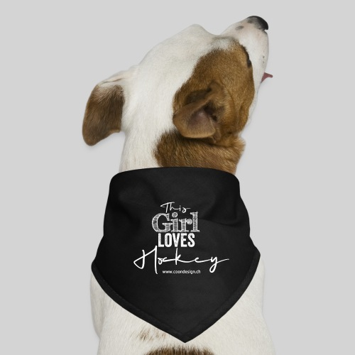 This Girl loves Hockey (white) - Hunde-Bandana