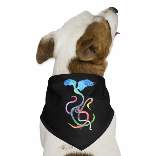 Graceful - Rainbow Bird in Ink - Dog Bandana