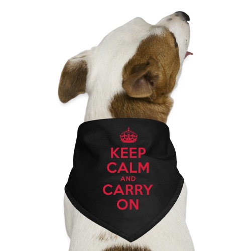 keep calm and carry on - Hunde-Bandana