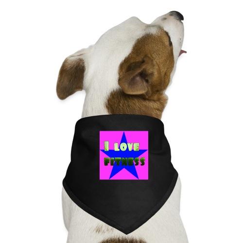 I love fitness 2 - Pañuelo bandana para perro