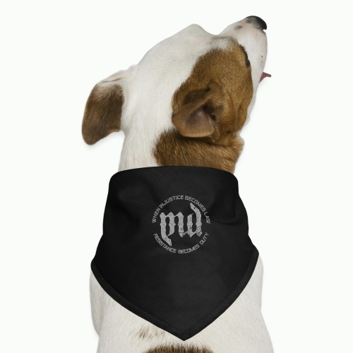 Mass Deception Resistance (grey print) - Honden-bandana
