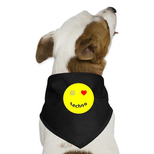 camiseta paz amor techno - Pañuelo bandana para perro
