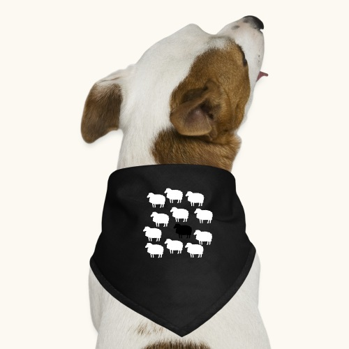 Lustige Schafherde Schwarzes Schaf Geschenkidee - Bandana pour chien