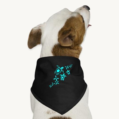 blumige Wasserschildis - Hunde-Bandana