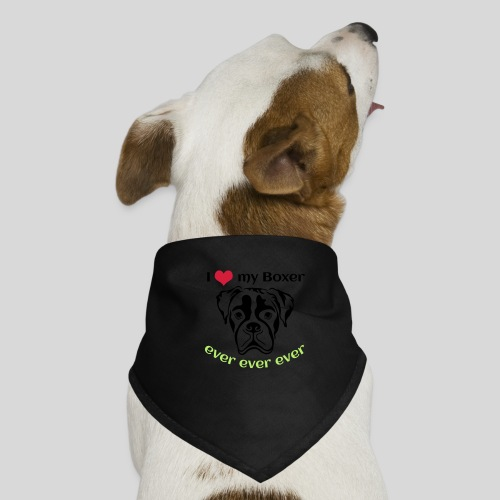 I-love-my-Boxer - Hunde-Bandana