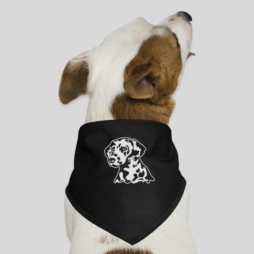 Dalmatiner *weiss* nur für dunkle Textilien - Hunde-Bandana