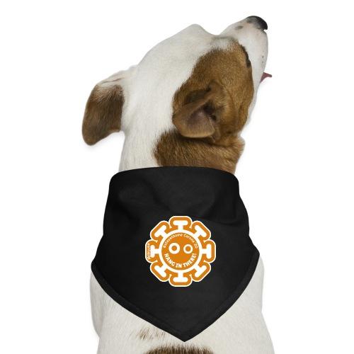 Corona Virus #stayathome orange - Pañuelo bandana para perro