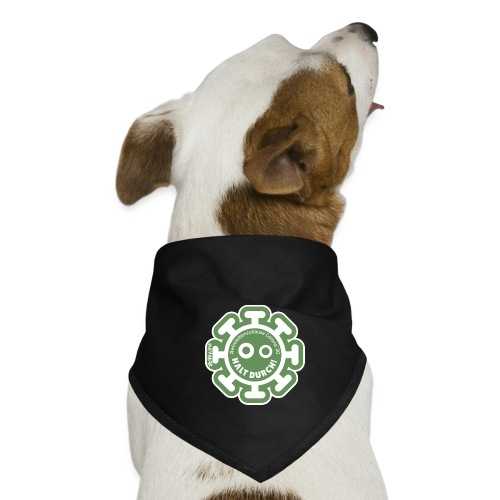 Corona Virus #WirBleibenZuhause grün - Pañuelo bandana para perro