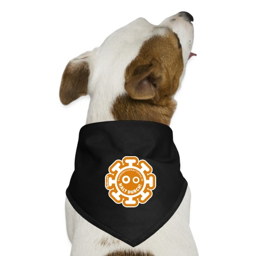 Corona Virus #WirBleibenZuhause orange - Pañuelo bandana para perro