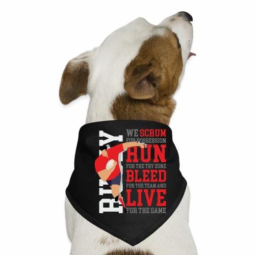 MarPlo Scrum Run Live Red - Bandana per cani