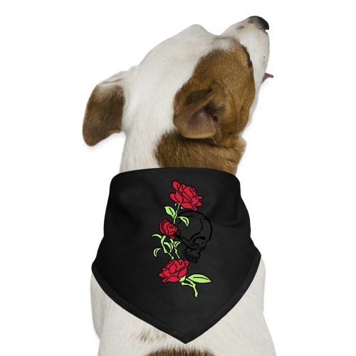 teschio e rose es123_2 - Bandana per cani