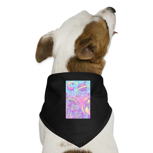 universe pink - Pañuelo bandana para perro