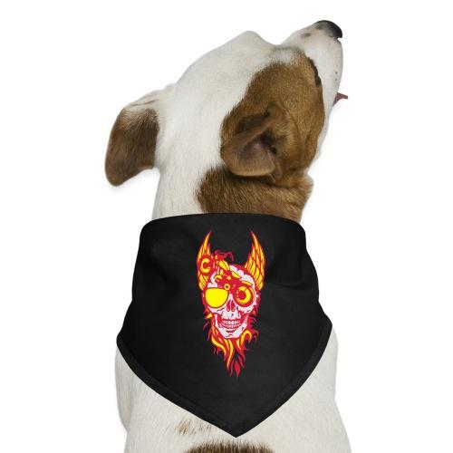 tete mort moto skull aile flamme fire - Bandana pour chien