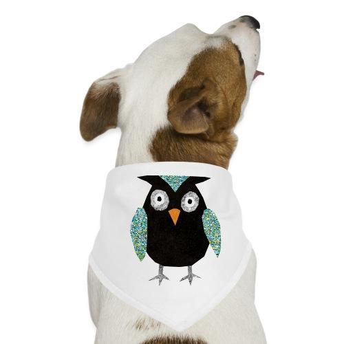 Collage mosaic owl - Dog Bandana