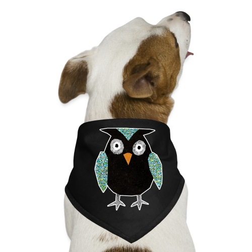 Collage mosaic owl - Dog Bandana